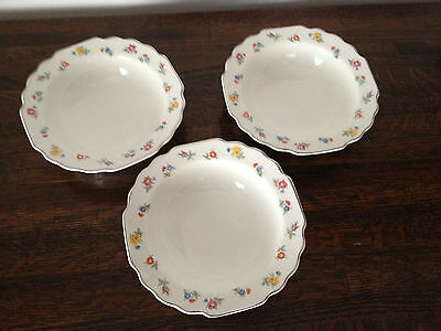 LIDO W S George White  112A  Dessert Bowls  Set of 4  Bonus Fruit Bowl