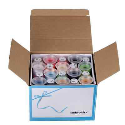 40 Spools Polyester Embroidery Machine Thread Set Bright Beautiful Colors New