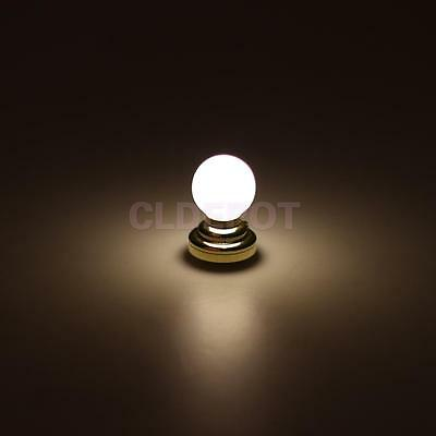 Dollhouse Miniature LED Light Lighting White Ceiling Battery Operated 2x3cm