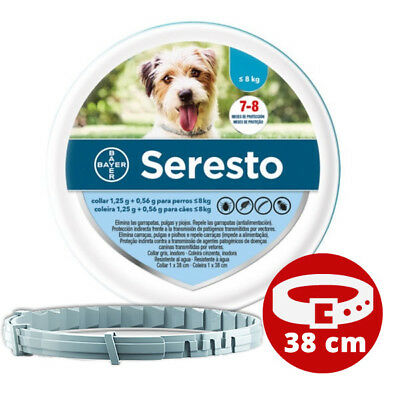 SERESTO 38CM - COLLAR ANTIPARÁSITOS / FLEA, TICK COLLAR - PERROS < 8 Kg