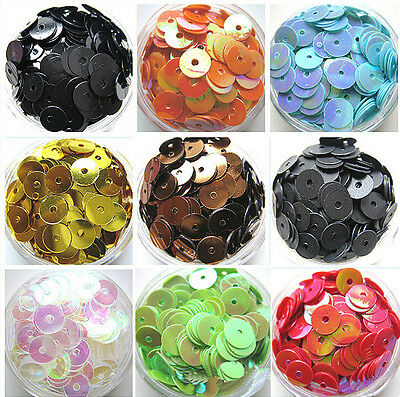 NEW DIY 6mm Faceted Round Loose Shiny Sequins Paillettes Sewing Wedding Craft