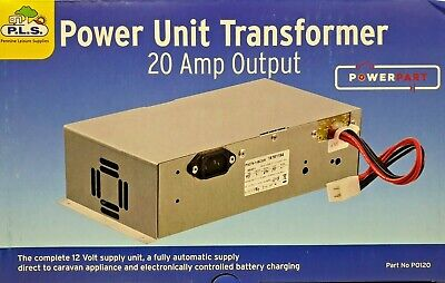 Caravan Mains 20 Amp Power Supply & Battery Charger  -  PO120