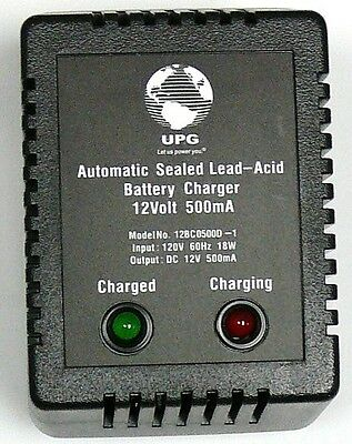 Lead Acid Battery Charger, 12V Dual-Stage 500mA, fast charge/trickle charge