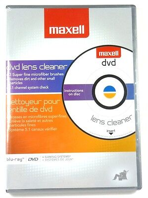 MAXELL 190059 DVD Lens Cleaner for DVD Recorder/Player,Gaming system