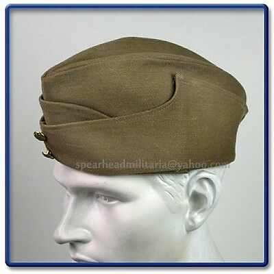 WWII British Army Summer Type Khaki FS Cap Size 58