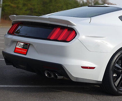 "Fits: Ford Mustang 2015+ Painted Lip Mount ""Racing Style"" Rear Spoiler"