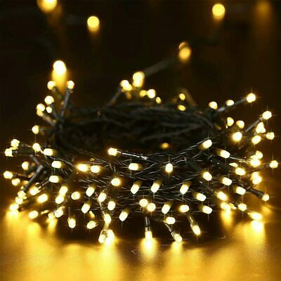 200 LED 22M Solar Powered Fairy Lights Garden Party Christmas Outdoor Warm White