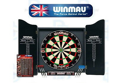 DartBoard Professional Set Bristle Deluxe Dart board Cabinet Pubs House Bar Cafe
