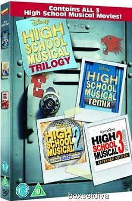 High School Musical Trilogy 1,  2 & 3 -New & Sealed Dvd