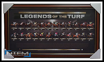 Legends of the Turf L/E Print Framed - Black Caviar Vain Makybe Diva Sunline
