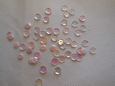 Bridal Wedding Baby Pink Hologram Round Cupped Sequins 6mm approx1700/pack 20g