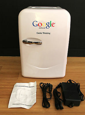 NWOT Google Mini Refrigerator Cooler Warmer Memorabilia Genuine Portable 20L