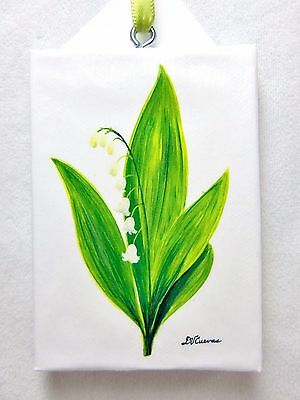 Danilo Cuevas Mini Printed Canvas Picture Ornament Lilly of the Valley Flower