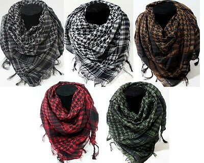 Army Military Tactical Unisex Arab Shemagh KeffIyeh Shawl tuch Scarf Check Wrap