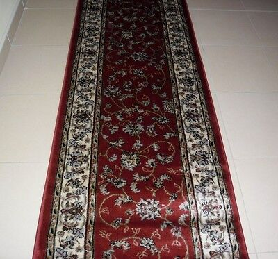 New Extra Long Persian Design Heatset Floor Hallway Runner Rug 80X550Cm
