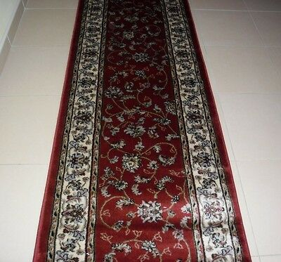 New Extra Long Persian Design Heatset Floor Hallway Runner Rug 80X800Cm