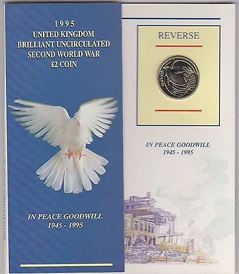 1995 Peace Dove Uncirculated £2 Coin Pack