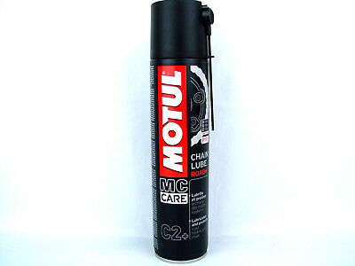 400ml Motul C2+ MC Care Chain Lube Road plus Kettenspray Farbe weiß mit PTFE