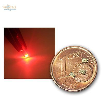 10 SMD LEDs 0805 rot, rote SMDs red rouge rojo rosso rood tief, mini SMT LED lok