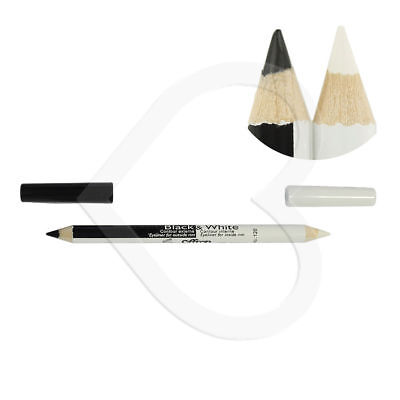 Saffron 2 in 1 Contour Black & White Duo Eyeliner Kohl Eye Liner Make up Pencil