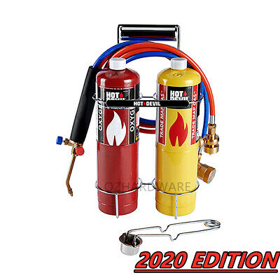 Oxygen Portable Oxy Kit Welding Cutting & Brazing Torch Gas Kit With Cylinders