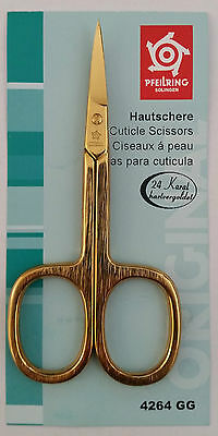 Pfeilring 4264GG Cuticle Scissors Brushed Gold-Plated 90mm - Made in Germany