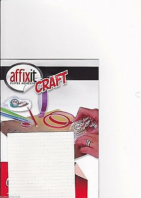 1-100 SHEETS~400 PER SHEET~5mm~WHITE FOAM PADS~AFFIXIT~CRAFT~DECOUPAGE~STICKERS