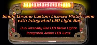 integrated custom chrome license plate frame signal dynamics 02602