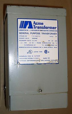 ACME TRANSFORMER 1.0 KVA PRI 240x480V SEC 120/240 1PH DRY TYPE T253010S