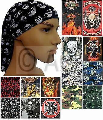 Mens Multifunctional Neck Tube Bandana Headband Scarf Durag in various designs