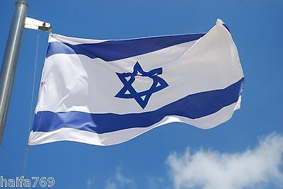 ISRAEL flag of Israel 3 foot on 5 foot Star of David blue and white 110cm on150