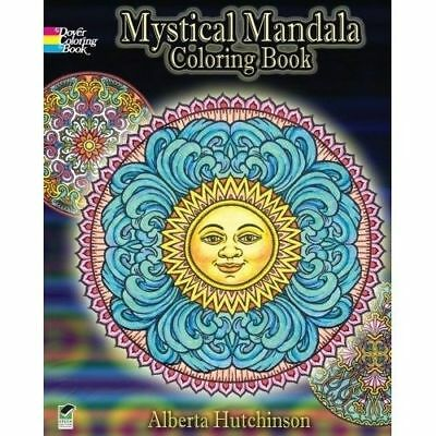 MYSTICAL MANDALA Adult Coloring Book Dover Design Coloring Books Free Shipping