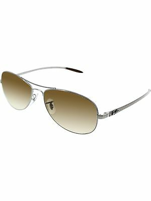 Ray-Ban Women's Aviator RB8301-004/51-56 Silver Sunglasses