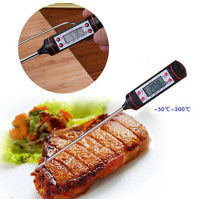 LCD Display Thermometer Digital Pyrometer Cooking Food Temperature Probe Needle