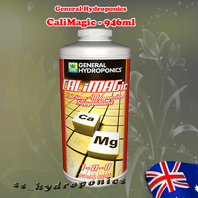 General Hydroponics CaLiMagic 946ml Organic Nutrient Ca Mg Calcium Cal Mag
