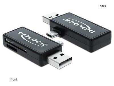 Delock Micro USB OTG Card Reader for Tablet or Smartphone + USB A male for PC