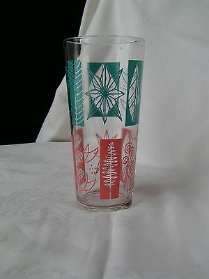 Vintage tall glass with leaf and rooster