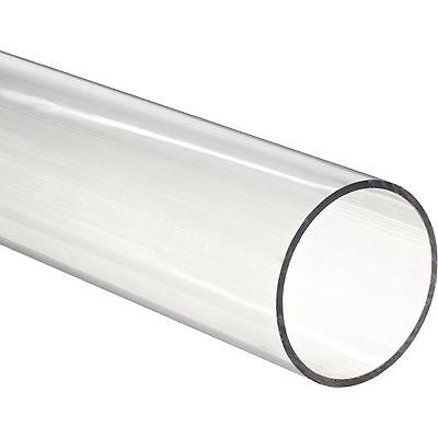 """36"""" Polycarbonate Round Tube (Clear) - 3/4"""" ID x 1"""" OD x 1/8"""" Wall (Nominal)"""