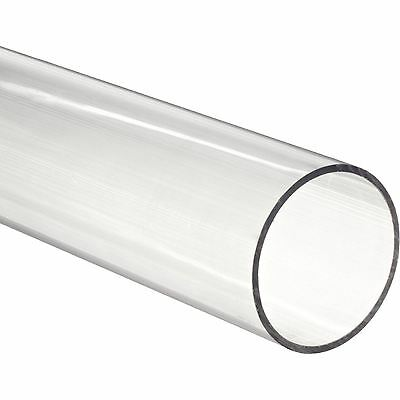 "36"" Polycarbonate Round Tube (Clear) - 3/4"" ID x 1"" OD x 1/8"" Wall (Nominal)"