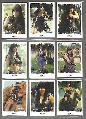 Xena Art & Images 63 Card Canvas Base Set from rittenhouse archives 2004