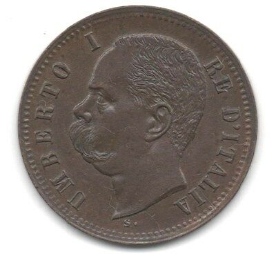 1898 ITALY - 2 CENTESIMO - **aUNCIRCULATED CONDITION**
