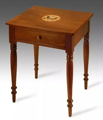 1795-1825 Eagle Antique Furniture Federal Colonial Nightstand Side Table Walnut