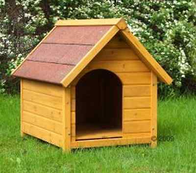 Wooden Dog Kennel Large Winter Warm House Weather Proof Oiled Shelter Outdoor