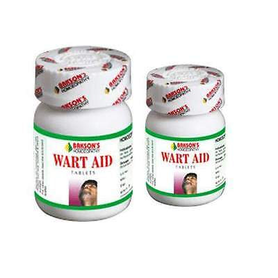 Bakson's Wart Aid Remover Homeopathy Remedy 75 Tablets Pack Free Shipping