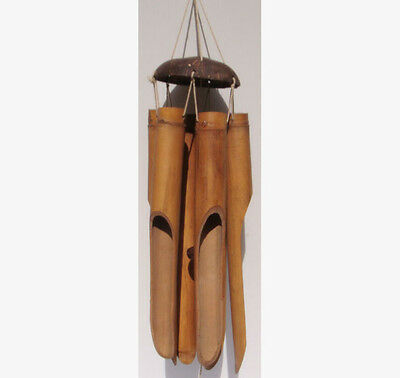 Large Bamboo Wind Chime Wood *95cm Drop* Garden Ornament Feng Shui Fair Trade