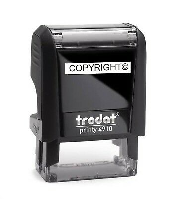 COPYRIGHT STAMP TRODAT PRINTY 4910 SELF INKING RUBBER STAMP 24mm x 7mm