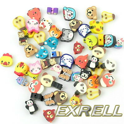 100 x Wholesale Mixed Color FIMO Polymer Clay Animals Charm Spacer Beads cl8u