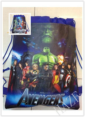 Avengers Backpack Swimming Clothes Environmental Toy Kid's Drawstring Bag _ s1