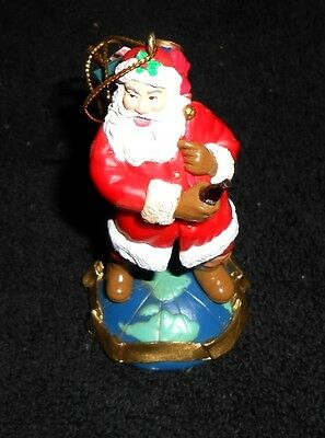 Coca-Cola Trim-a-Tree Collection Ornament 1992 Santa Claus on top of World - New