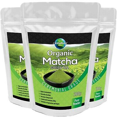 JAPANESE style Matcha Green Tea Powder CEREMONIAL TOP GRADE Certified ORGANIC